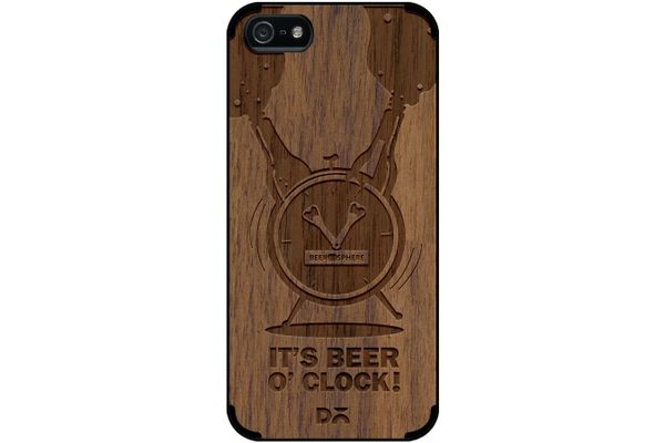 Beer O'Clock Froth Real Wood Maple Case For iPhone 5/5S