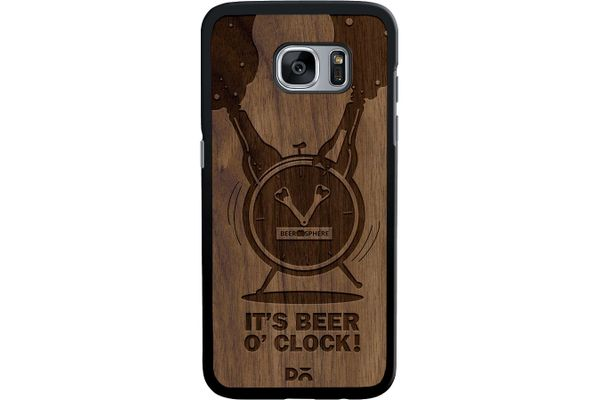 Beer O'Clock Froth Real Wood Maple Case For Samsung Galaxy S7 Edge
