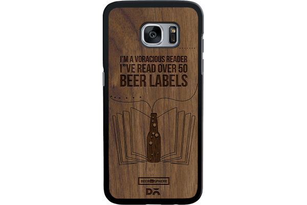 Beer Labels Real Wood Maple Case For Samsung Galaxy S7 Edge