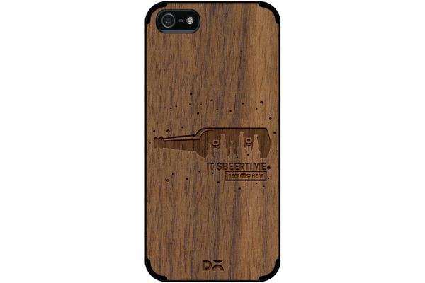 Beer O'Clock Real Wood Maple Case For iPhone 5/5S