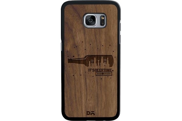 Beer O'Clock Real Wood Maple Case For Samsung Galaxy S7 Edge