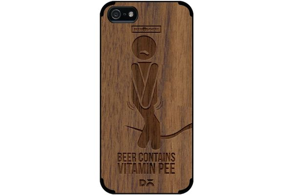 Beer Pressure Real Wood Maple Case For iPhone 5/5S