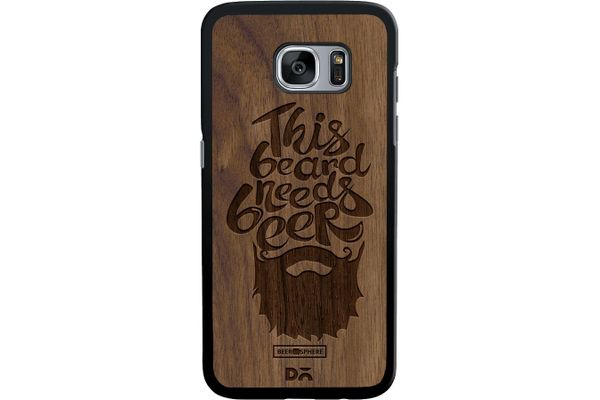 Beer Shampoo Real Wood Maple Case For Samsung Galaxy S7 Edge