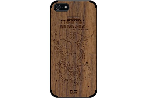 Beer topus Real Wood Maple Case For iPhone 5/5S