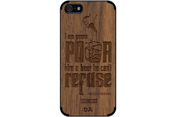 Cant Refuse Beer Real Wood Maple Case For iPhone 5/5S