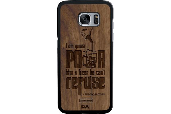 Cant Refuse Beer Real Wood Maple Case For Samsung Galaxy S7 Edge