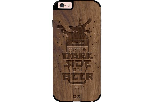 Dark Beer Rules Real Wood Maple Case For iPhone 6S