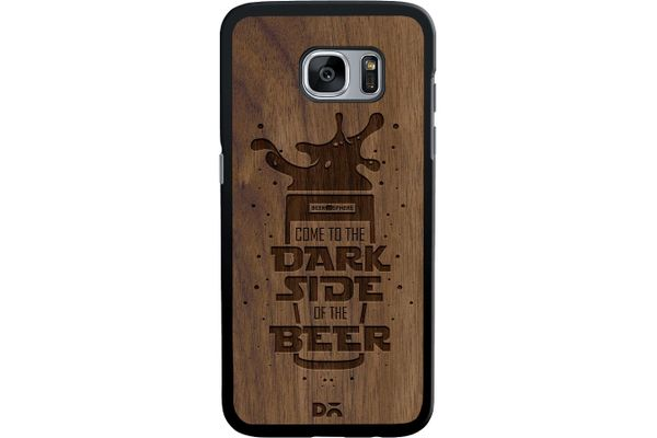 Dark Beer Rules Real Wood Maple Case For Samsung Galaxy S7 Edge