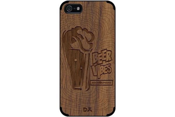 Dizzy Beer Vibes Real Wood Maple Case For iPhone 5/5S