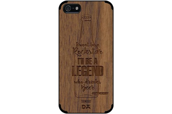 Legends of Beer Real Wood Maple Case For iPhone 5/5S