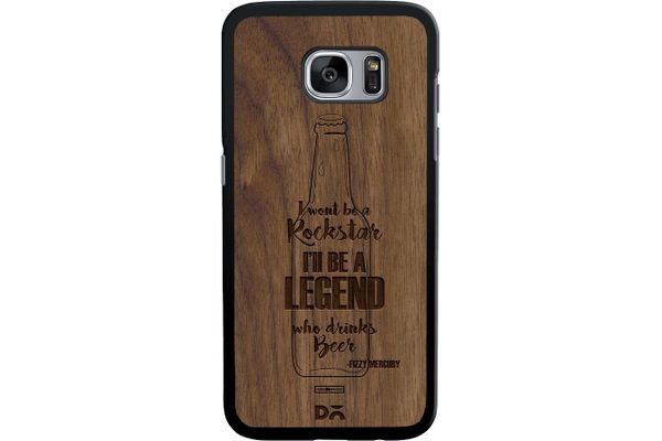 Legends of Beer Real Wood Maple Case For Samsung Galaxy S7 Edge