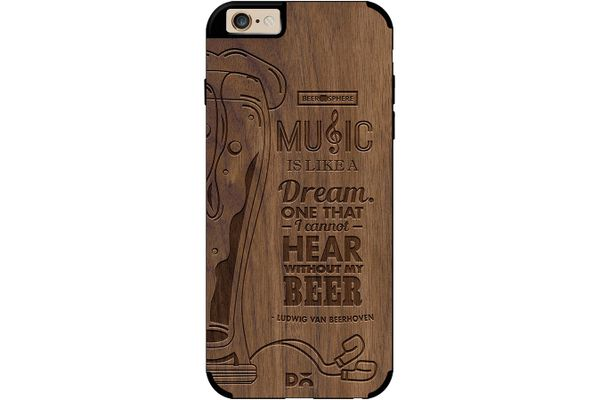 No Beer No Hear Real Wood Maple Case For iPhone 6