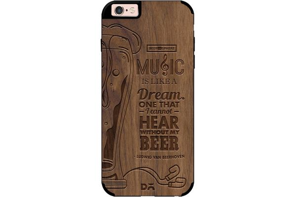 No Beer No Hear Real Wood Maple Case For iPhone 6S