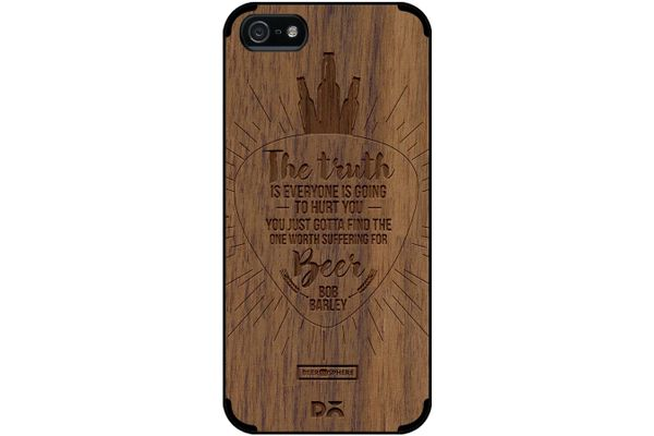 Truth Is Beer Real Wood Maple Case For iPhone 5/5S