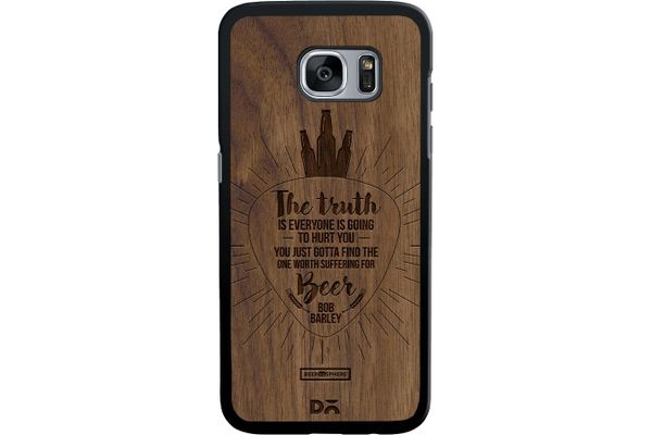 Truth Is Beer Real Wood Maple Case For Samsung Galaxy S7 Edge