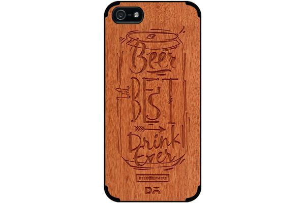 Beer Da Best Real Wood Red Chestnut Case For iPhone 5/5S