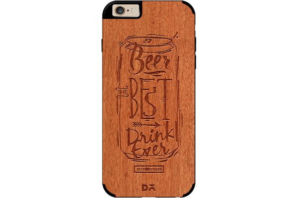 Beer Da Best Real Wood Red Chestnut Case For iPhone 6