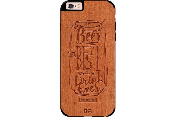 Beer Da Best Real Wood Red Chestnut Case For iPhone 6S