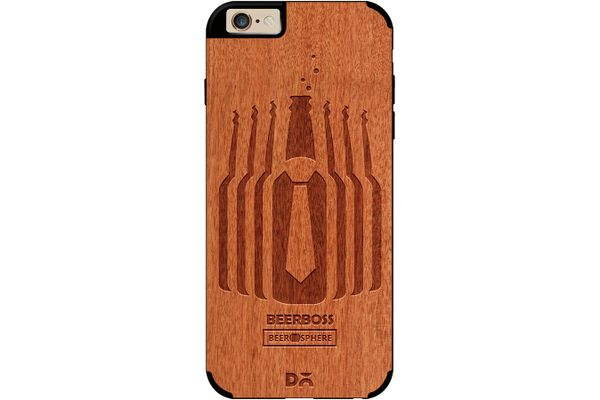 Beer Iz Boss Real Wood Red Chestnut Case For iPhone 6