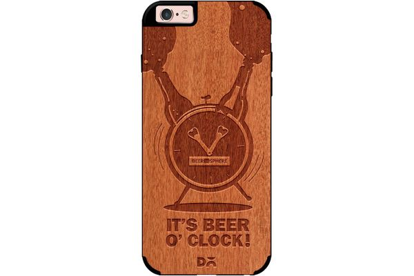 Beer O'Clock Froth Real Wood Red Chestnut Case For iPhone 6S
