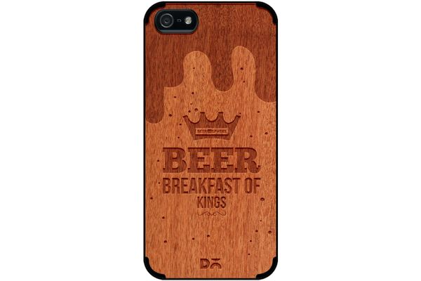 Beer BoK Real Wood Red Chestnut Case For iPhone 5/5S