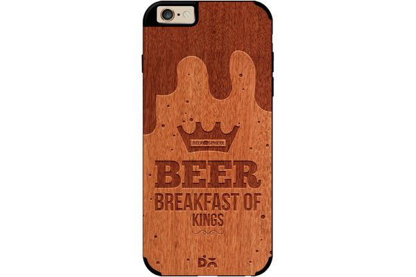 Beer BoK Real Wood Red Chestnut Case For iPhone 6