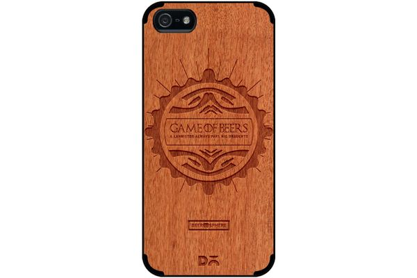 Beer GoT Real Wood Red Chestnut Case For iPhone 5/5S