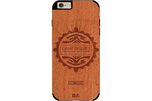Beer GoT Real Wood Red Chestnut Case For iPhone 6