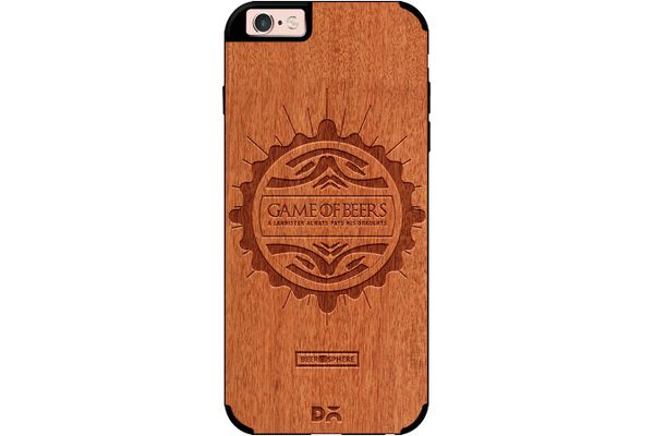 Beer GoT Real Wood Red Chestnut Case For iPhone 6S