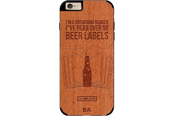 Beer Labels Real Wood Red Chestnut Case For iPhone 6