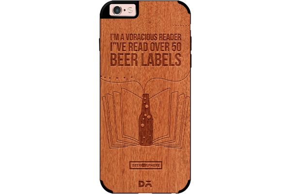 Beer Labels Real Wood Red Chestnut Case For iPhone 6S