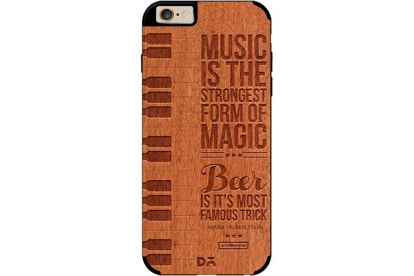 Beer Magic Real Wood Red Chestnut Case For iPhone 6
