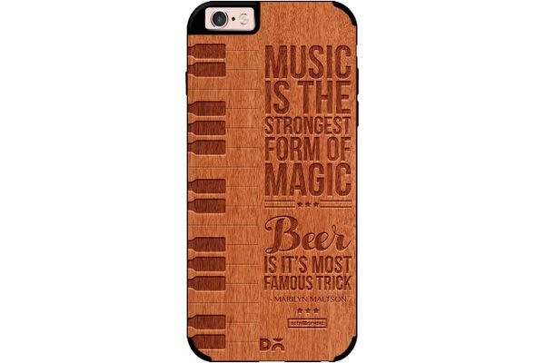 Beer Magic Real Wood Red Chestnut Case For iPhone 6S