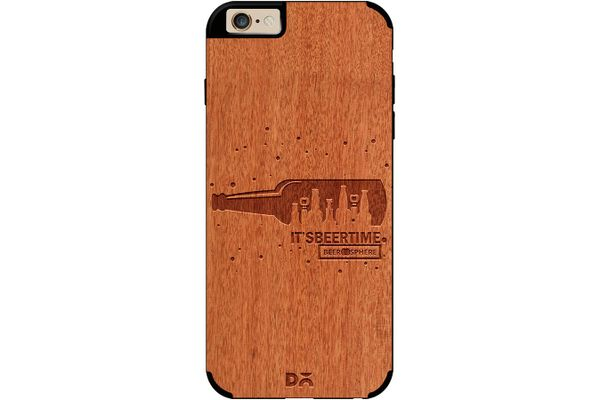 Beer O'Clock Real Wood Red Chestnut Case For iPhone 6