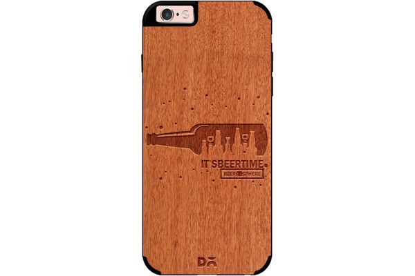 Beer O'Clock Real Wood Red Chestnut Case For iPhone 6S