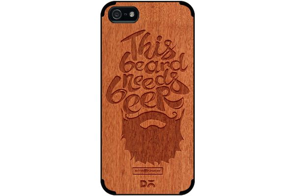 Beer Shampoo Real Wood Red Chestnut Case For iPhone 5/5S