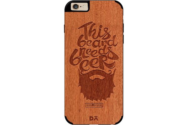 Beer Shampoo Real Wood Red Chestnut Case For iPhone 6