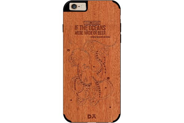 Beer topus Real Wood Red Chestnut Case For iPhone 6