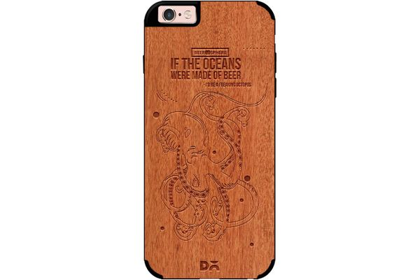 Beer topus Real Wood Red Chestnut Case For iPhone 6S