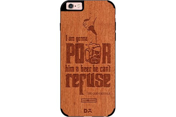Cant Refuse Beer Real Wood Red Chestnut Case For iPhone 6S