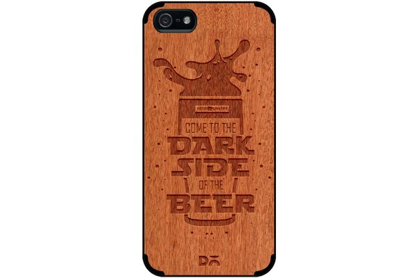Dark Beer Rules Real Wood Red Chestnut Case For iPhone 5/5S