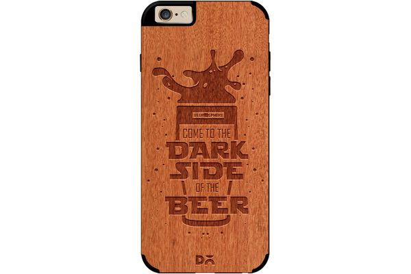 Dark Beer Rules Real Wood Red Chestnut Case For iPhone 6
