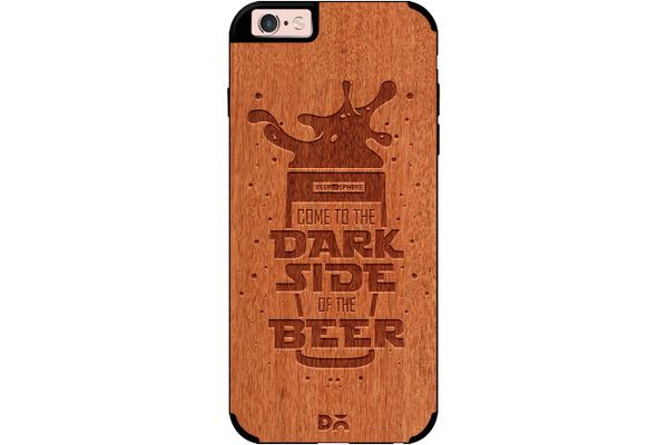 Dark Beer Rules Real Wood Red Chestnut Case For iPhone 6S