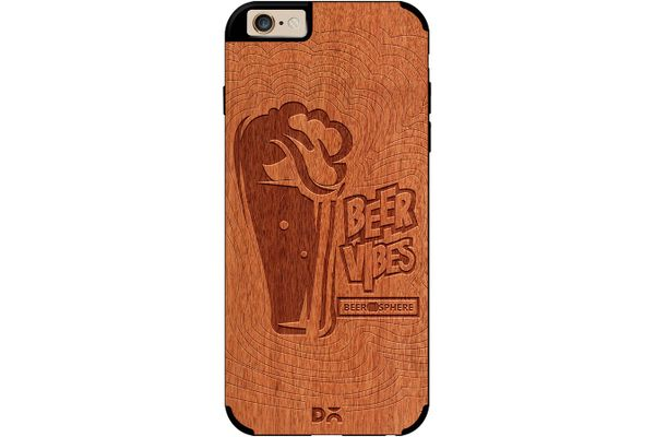 Dizzy Beer Vibes Real Wood Red Chestnut Case For iPhone 6