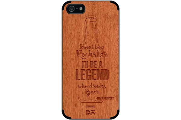 Legends of Beer Real Wood Red Chestnut Case For iPhone 5/5S