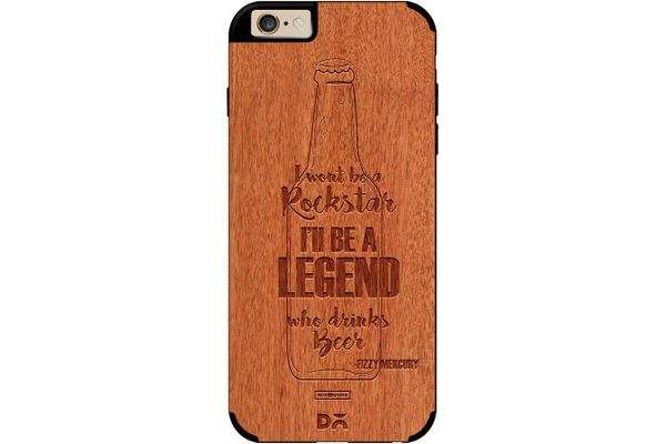 Legends of Beer Real Wood Red Chestnut Case For iPhone 6
