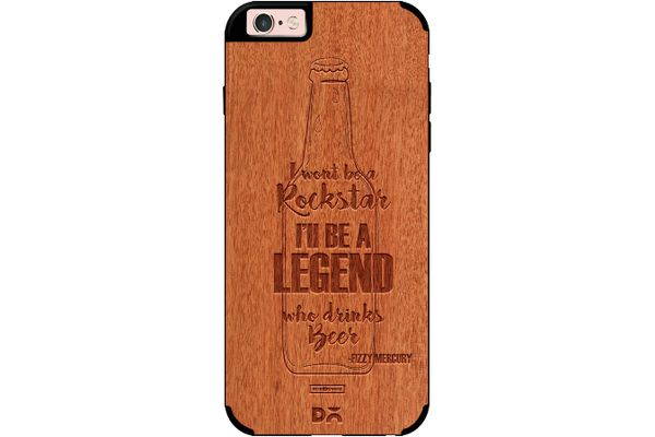 Legends of Beer Real Wood Red Chestnut Case For iPhone 6S