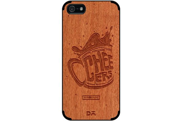Life is BREWtiful Real Wood Red Chestnut Case For iPhone 5/5S