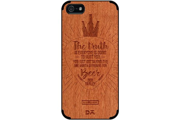 Truth Is Beer Real Wood Red Chestnut Case For iPhone 5/5S