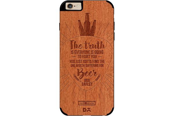 Truth Is Beer Real Wood Red Chestnut Case For iPhone 6